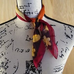Thanksgiving fall lightweight scarf wrap leaves